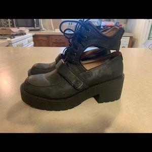 Jeffrey Campbell Cut-out block boot